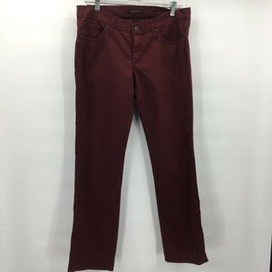 James Jeans Mens Red Colored Pencil Leg Size 32